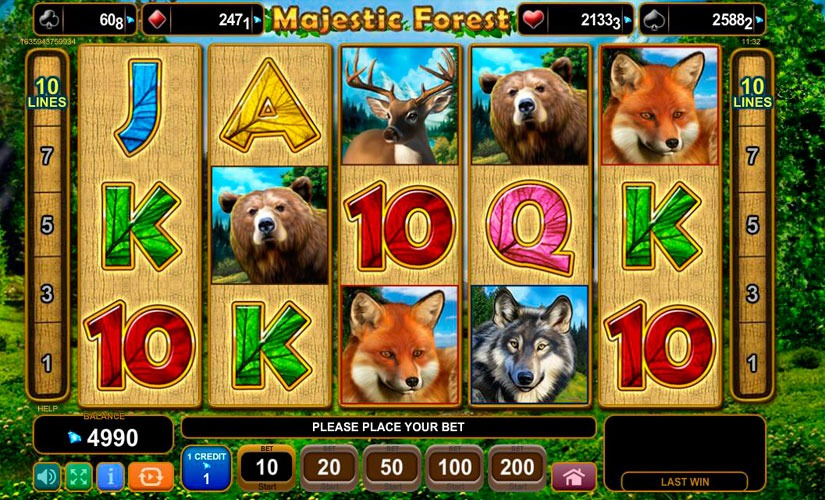Majestic Forest Slot Machine Review
